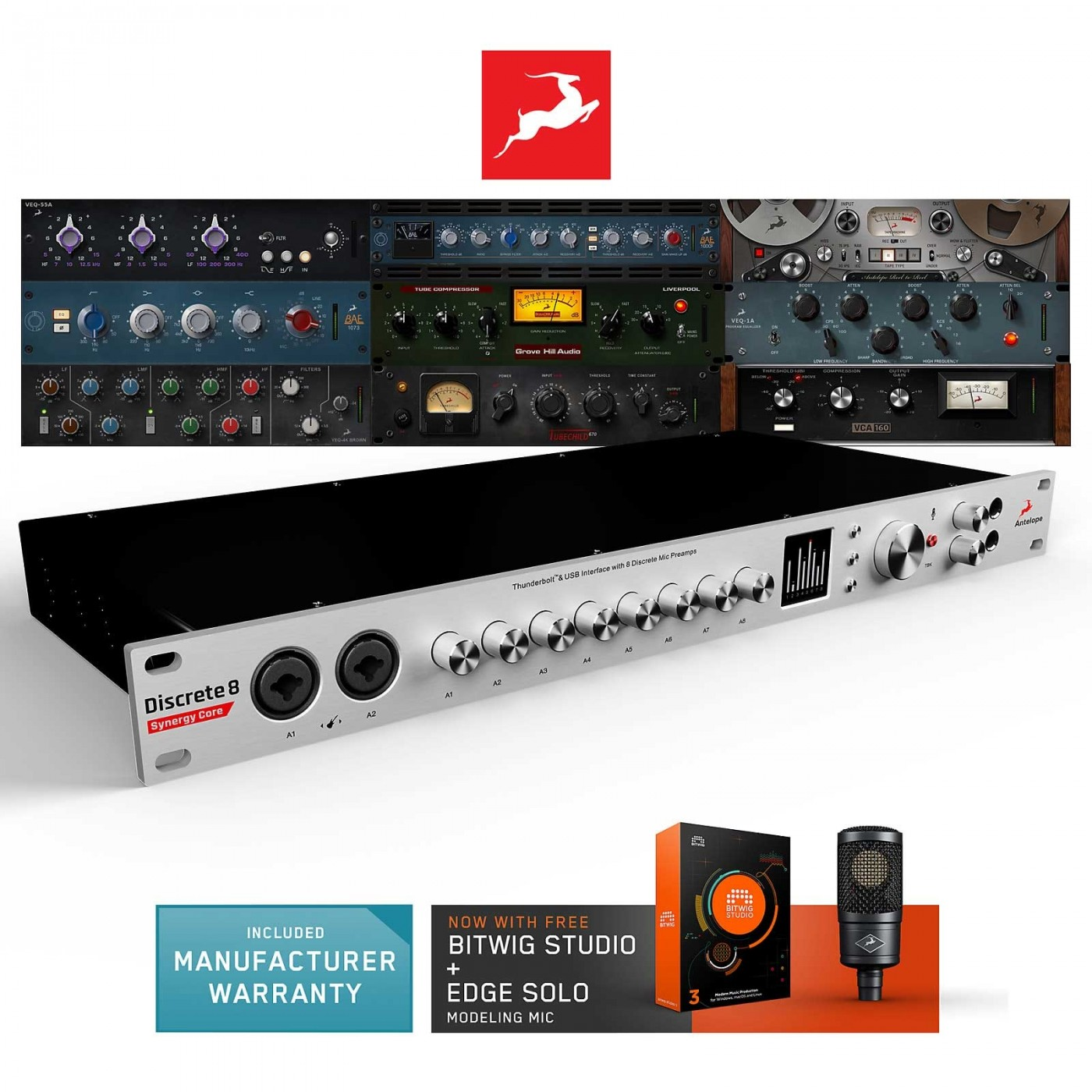 Offer Antelope Audio DISCRETE 8 Synergy Core | Rage Audio