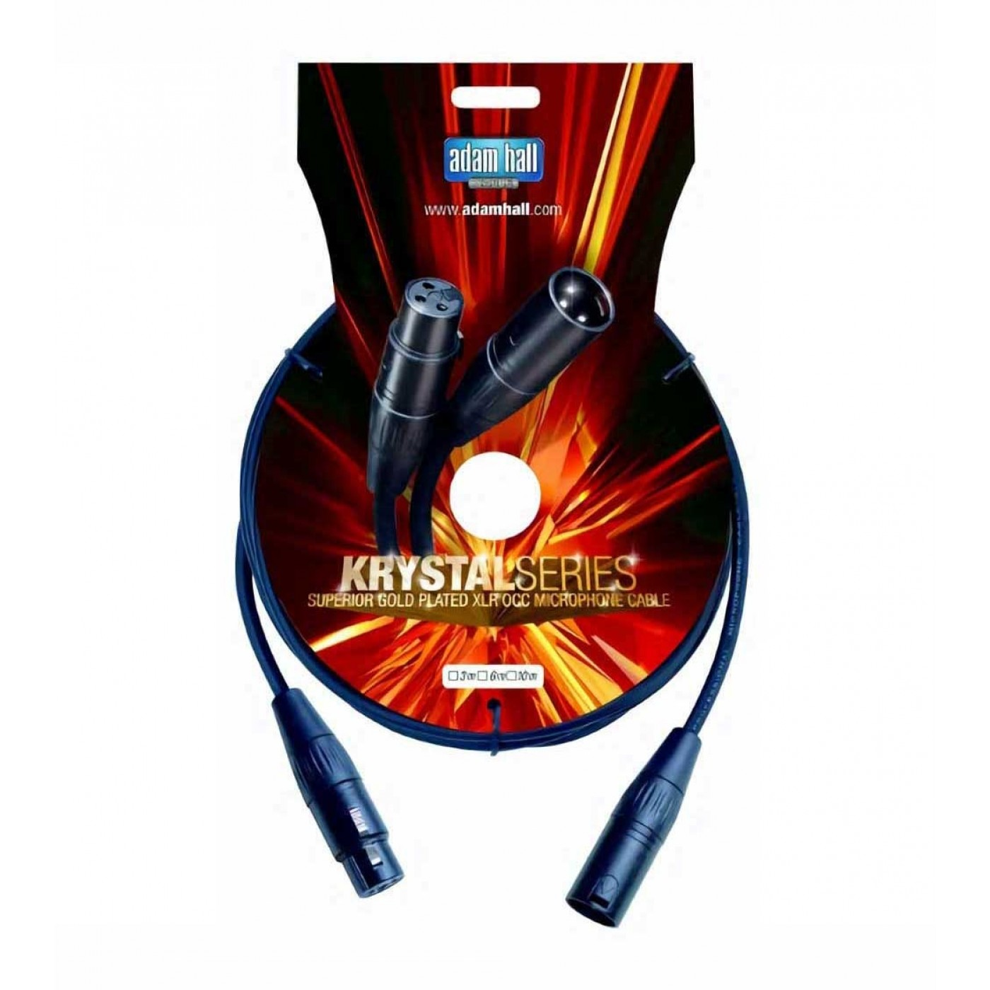 Adam Hall KRYSTAL Cable Micrófono XLRm / XLRf 1m