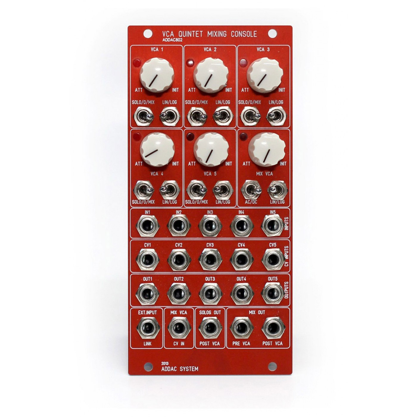 Addac System ADDAC802 VCA Quintet Mixing Console