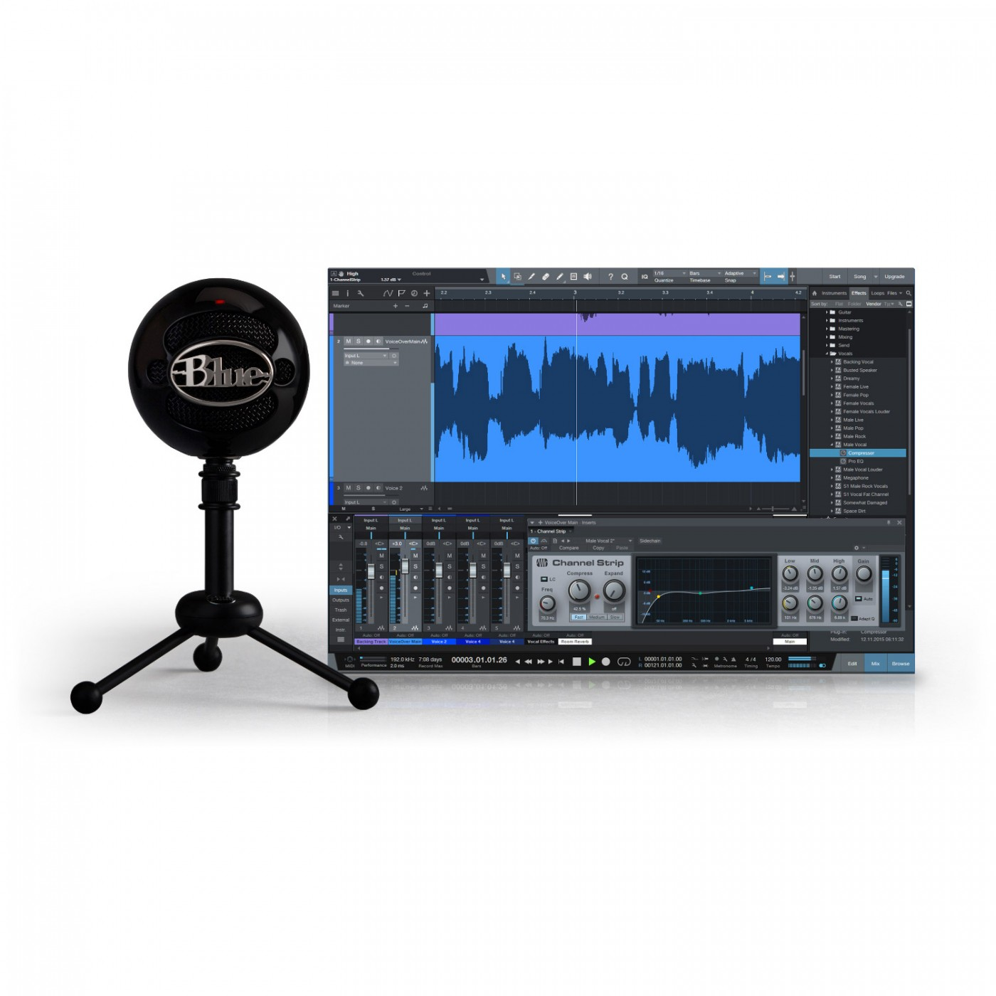 Blue Mic SNOWBALL WHITE Studio Bundle