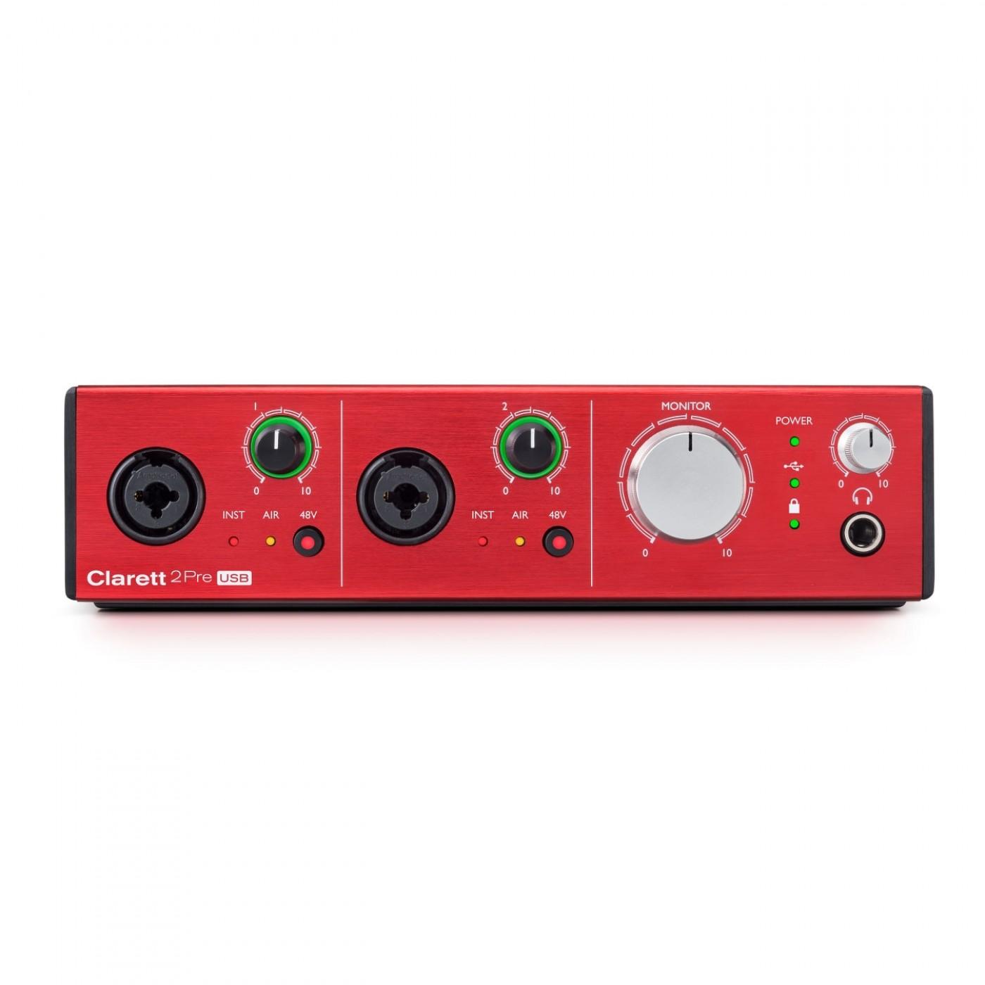 Focusrite CLARETT 2PRE USB   Rage Audio