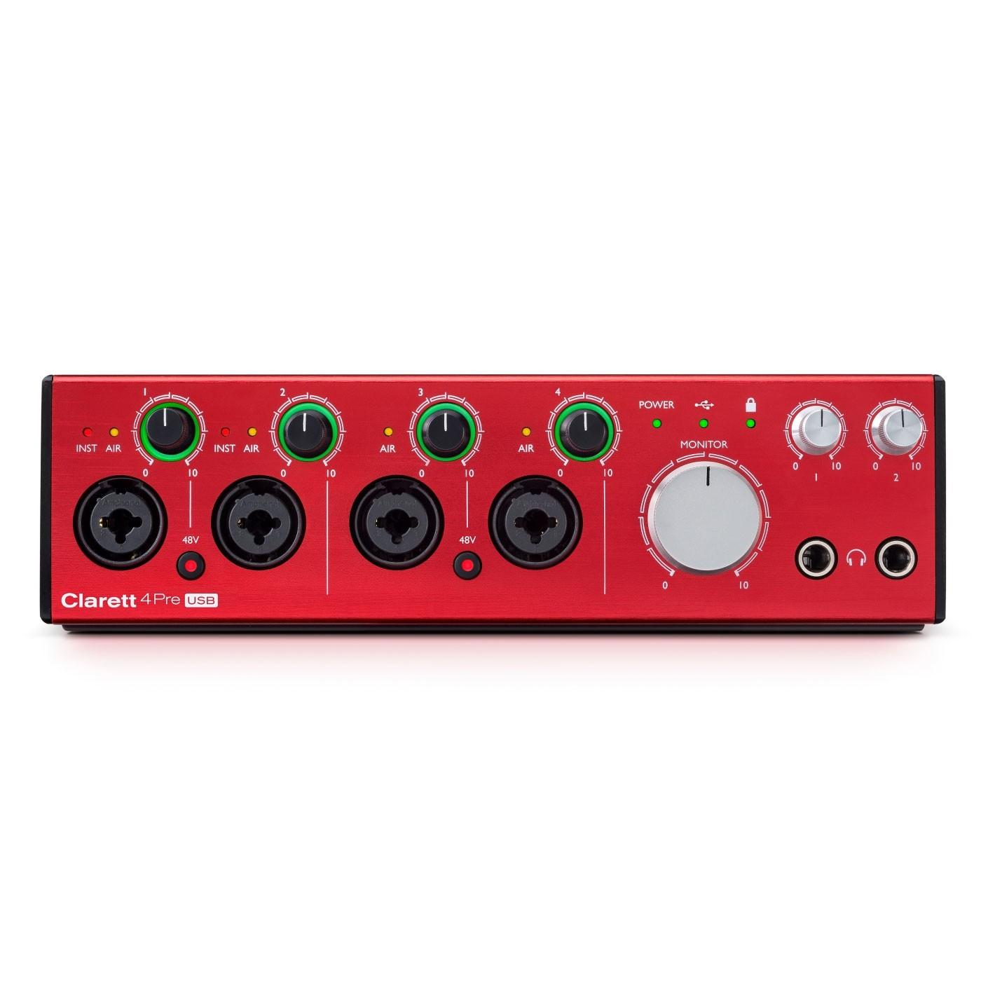 Focusrite CLARETT 4PRE USB | Rage Audio