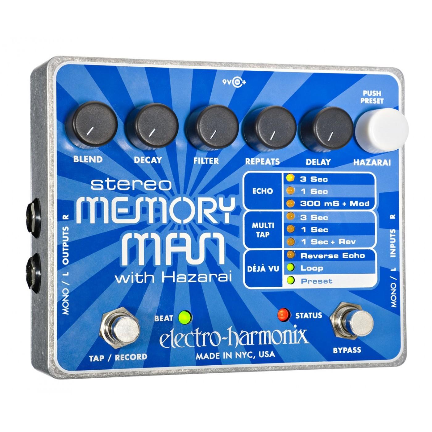 Electro Harmonix STEREO MEMORY MAN w HAZARAI