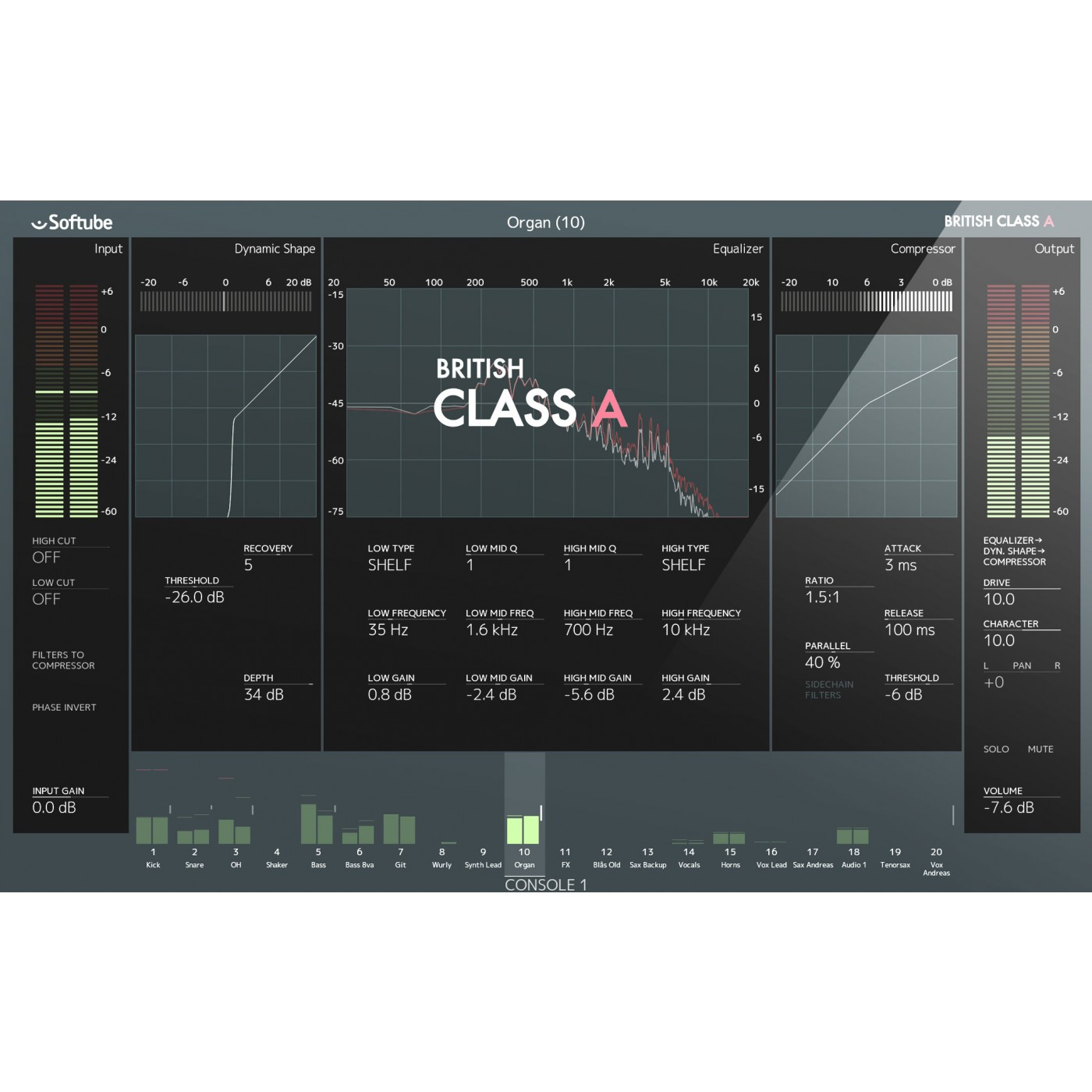 Softube BRITISH Class A for Console 1   Rage Audio