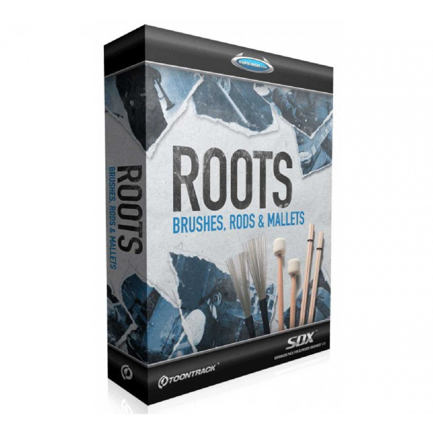 Toontrack SDX Roots Brushes, Rods & Mallets