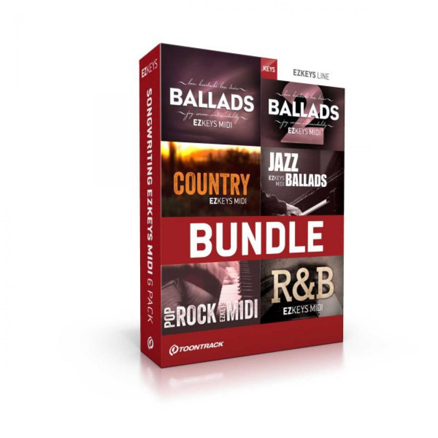 Toontrack: EZkeys Songwriting MIDI 6 pack | Rage Audio