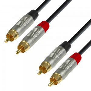 Adam Hall Cable de 2 RCA macho a 2 RCA macho 1,5 m