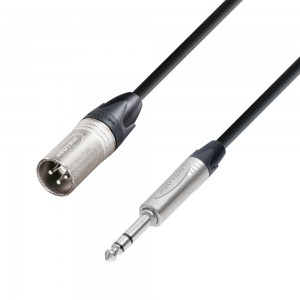 Adam Hall Cable 5 Star XLR-m a Jack 6,3mm stereo 1m