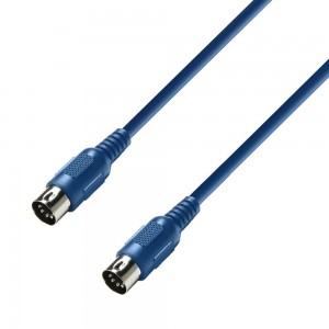 Adam Hall CABLE MIDI Azul 0.75m
